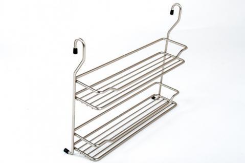 Wesco Relingsystem Gewürzbord breit Chrom-matt Küchenreling