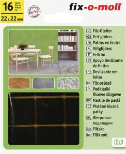 fix-o-moll FILZGLEITER Filz-Gleiter und -Zuschnitte 3566320 Weiss Sk 22x22mm