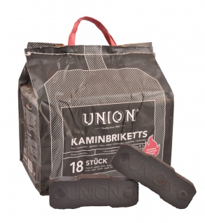 UNION Braunkohlebriketts 10kg Kaminbriketts Ofen Kamin Kohle Briketts Brennstoff
