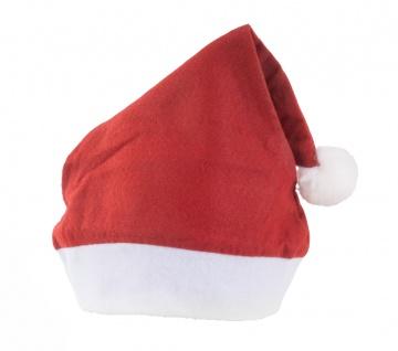 10x Nikolausmütze mit Bommel Weihnachtsmütze Weihnachtsmarkt Weihnachtsmann Filz