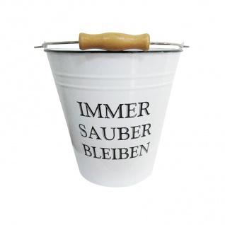 Deko Eimer 7L weiß Putzeimer Wassereimer Metalleimer Blecheimer Vintage Retro - Vorschau 2