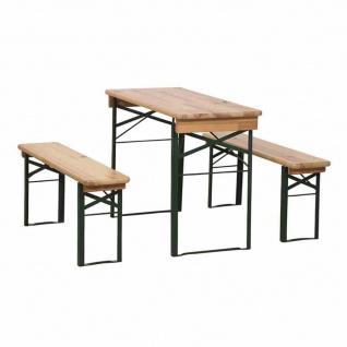 Festzeltgarnitur 110 cm ohne Rückenlehne 3-teilig, Tisch 50 cm Breite