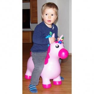 Hüpftier Kuh oder Einhorn mit Pumpe Hüpfball Hopser Pferd Pony Kinder Spielzeug - Vorschau 5