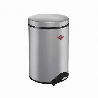 Treteimer 117 silber 14l Mülleimer Abfalleimer Müllbehälter Mülltonne Haushalt