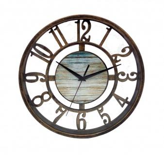 Metall-Wanduhr 27, 5cm Bronze Küchenuhr Wohnzimmeruhr Retro Vintage Antik