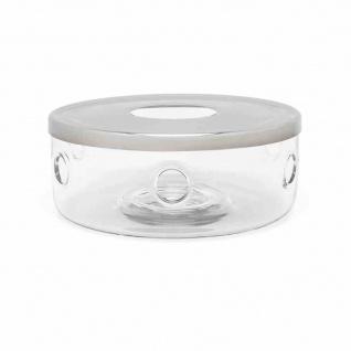 Teewärmer aus Glas/Edelstahl 15, 1 x 6 cm