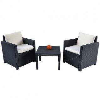 Auflagen 4er-Set Elfenbein für Lounge Balkon Sitzgruppe Sitzauflagen Sitzkissen