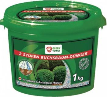 """GREEN TOWER GT Buchsbaum-Dünger ,, 2 Stufen"""" 2 Stufen Buchsbaumd.1kg Eimer"""
