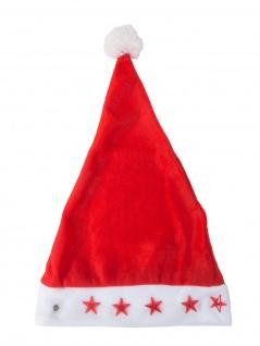 Weihnachtsmannmütze beleuchtet Nikolaus Mütze Weihnachten Weihnachtsmütze Lampe - Vorschau 2