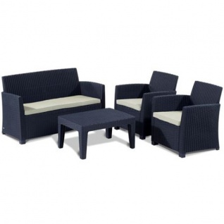 Auflagen 3er-Set natur für Sitzgruppe Merida Sitzauflagen Sitzkissen Kissen