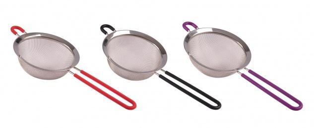 Edelstahl-Sieb 14cm Küchensieb Abtropfsieb Teesieb Mehlsieb Nudelsieb Metallsieb