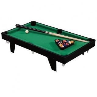 Mini-Billardtisch 91, 5x51cm 16 Billardkugeln 2 Queues Dreieck Kreide Poolbillard