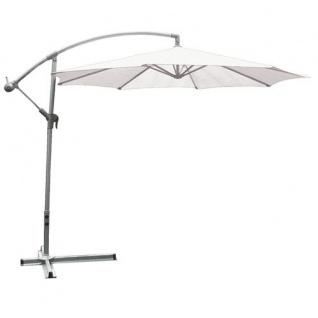 Deluxe-Ampelschirm weiss 3m Sonnenschirm Marktschirm Gartenschirm Schirm