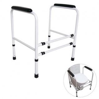 Toiletten-Stützgestell höhenverstellbar 64x48cm Stütze Hilfe Toilettenhilfe