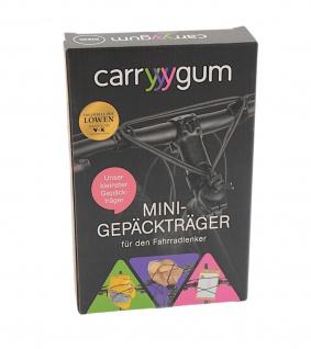 carryyygum Mini Gepäckträger schwarz Lenkerspannband Fahrrad Bike Gepäckband