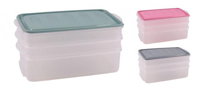 Aufschnittdosen-Set Aufschnittbox Frischhaltedose Kühlschrankdose Vorratsdose
