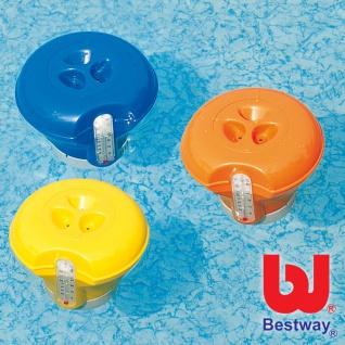 Schwimmdosierer + Pool Thermometer Dosierschwimmer Chlorspender Dosierer Spender