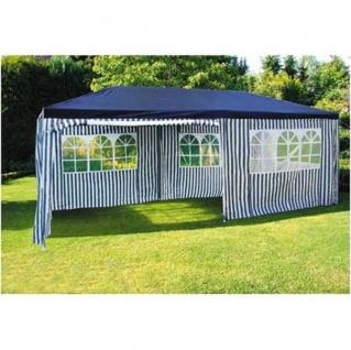 Party-Pavillon 6x3m Blau-Weiß Gartenpavillon Festzelt Partyzelt