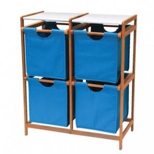 Bambusregal mit 4 Stoffschubladen Badregal Standregal Kinderregal Spielzeugbox