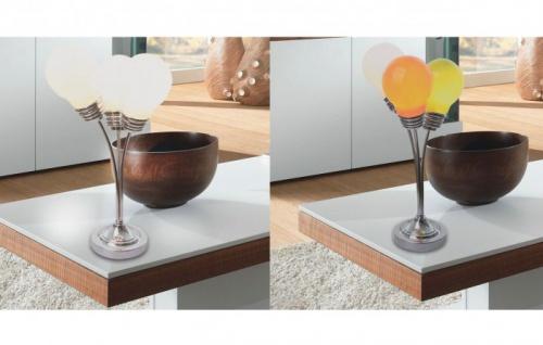 Tischlampe Glühlampentrio verschiedene Farben