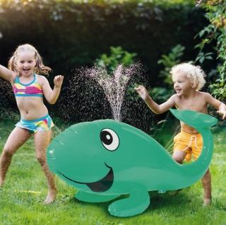Wassersprinkler Wal Fontäne Wasserball Wasserspritze Wasserspielzeug Spritzball