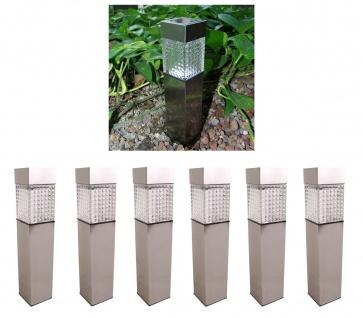 6x Solar Gartenwegeleuchte 27, 7cm LED Gartenlampe Solarleuchte Außenleuchte Deko