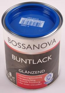 Acryl Buntlack 3x 0, 75 L enzianblau glänzend Metall Holz Lack Glanzlack Decklack - Vorschau 2