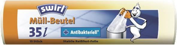 swirl MEL Müllbeutel 219759 Muellbtl.m. Griff 35l