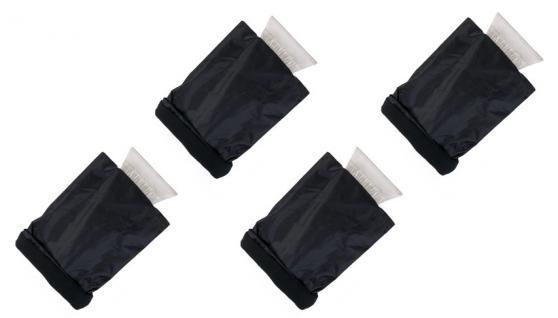 4x Eisschaber mit Handschuh Eiskratzer Enteiser Scheibenkratzer Frostenteiser