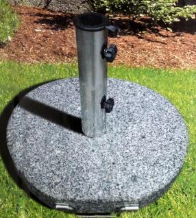 Granit Sonnenschirmständer 30kg Ø45cm Schirmfuß Schirmständer Schirmhalter