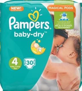 Pampers baby-dry 30er Gr.4 Maxi 8-16kg Babywindeln Baby Windeln Windel