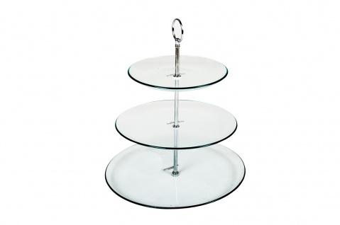 Glas Etagere Servierständer Gebäckschale - Vorschau