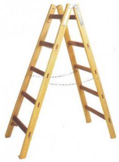 HOLZ Holz-Doppelsprossen-Stehleiter 122277 Doppelspr.-leiter 2x7 Sp