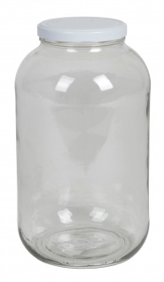 Einmachglas 4, 25L Vorratsglas Einweckglas Konservenglas Gurkenglas Schraubdeckel