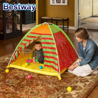 Bestway Spielzelt mit 40 bunte Bälle Kinder-Haus Fang Wurf In- Outdoor Motorik