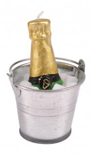 Deko-Kerze Sektkühler mit Champagner Partydeko Hochzeitsdeko Silvesterkerze