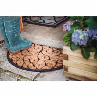Gummimatte Antik 45x75cm schwarz Schmutzfangmatte Tür Matte Fußabtreter Haushalt