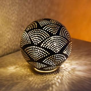 LED-Deko-Kugel 15cm warmweiß Licht Tischdeko Dekolampe Glaskugel Beleuchtung