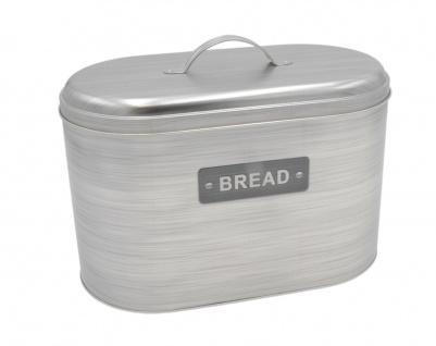 Metall Brotdose Bread mit Griff Brotkasten Brotbox Brotbehälter