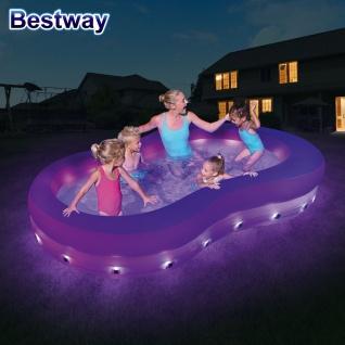 Bestway LED Family Pool mit Farbwechsler Planschbecken Swimmingpool Pool-Party - Vorschau 3