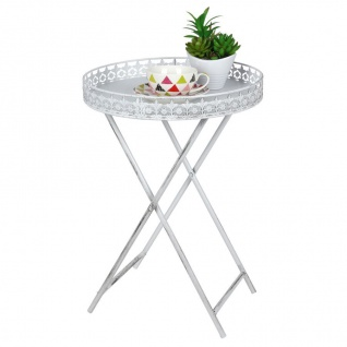 Tablett-Tisch 40cm Klapptisch Serviertablett Beistelltisch Kaffeetisch Metall