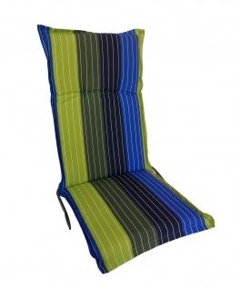 Hochlehner Auflage 123x50cm Polsterauflage Stuhlkissen Sesselauflage Sitzpolster