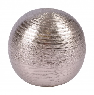 Dekokugel aus Keramik silber 12, 5cm Tischdeko Silberkugel Dekofigur Kugel