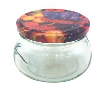 Einmachglas 300ml Vorratsglas Einweckglas Marmeladenglas Schraubdeckel Früchte