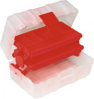 """allit MCPLUS Kunststoffkoffer ,, McPlus Clear 13"""" 416405 13 Transp/rot"""