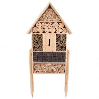 XXL Insektenhotel auf Fuß 119x50x12cm Insektenhaus Pension Nistkasten Gartendeko