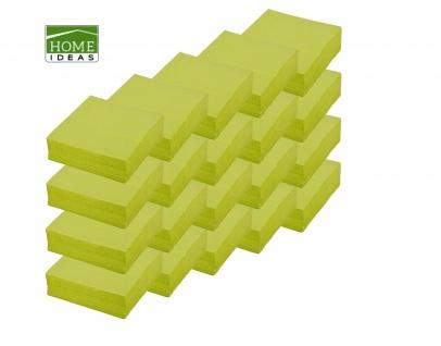 1000 Servietten grün 33x33cm 3lagig 1/4 Falz Papierserviette Papiertuch Deko