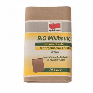 Bio-Müll-Papierbeutel 10 l, 10 Stück 20 x 17 x 36 cm
