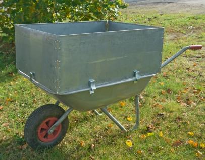 Schubkarrenaufsatz 60x80cm mit Halterung Karrenaufsatz Laubsammler Gartenhilfe