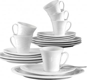 "Seltmann Weiden SEL Kaffeeservice ,, Allegro"" 1.692.127 Ka-set 18tlgallegro Weiss Uni 3"